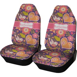 Birds & Hearts Car Seat Covers (Set of Two) (Personalized)
