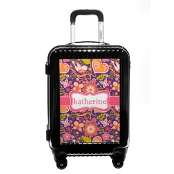 Birds & Hearts Carry On Hard Shell Suitcase (Personalized)