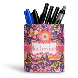 Birds & Hearts Ceramic Pen Holder