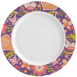Birds & Hearts Ceramic Dinner Plates (Set of 4) (Personalized)