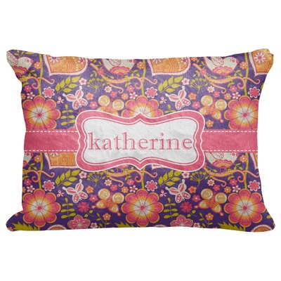 "Birds & Hearts Decorative Baby Pillowcase - 16""x12"" (Personalized)"
