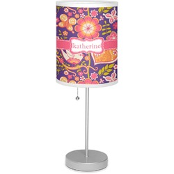 """Birds & Hearts 7"""" Drum Lamp with Shade Linen (Personalized)"""