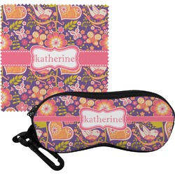 Birds & Hearts Eyeglass Case & Cloth (Personalized)