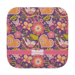 Birds & Hearts Face Towel (Personalized)