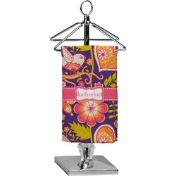 Birds & Hearts Finger Tip Towel - Full Print (Personalized)