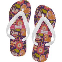 Birds & Hearts Flip Flops (Personalized)