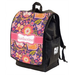 Birds & Hearts Backpack w/ Front Flap  (Personalized)