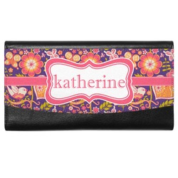 Birds & Hearts Genuine Leather Ladies Wallet (Personalized)