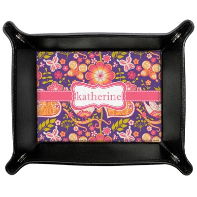 Birds & Hearts Genuine Leather Valet Tray (Personalized)