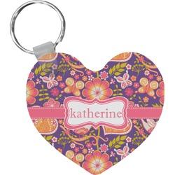 Birds & Hearts Heart Keychain (Personalized)