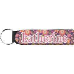 Birds & Hearts Neoprene Keychain Fob (Personalized)