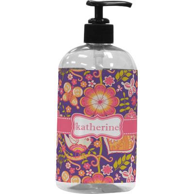 Birds & Hearts Plastic Soap / Lotion Dispenser (16 oz - Large) (Personalized)