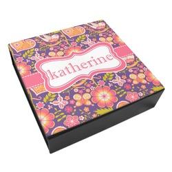 Birds & Hearts Leatherette Keepsake Box - 3 Sizes (Personalized)