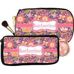 Birds & Hearts Makeup / Cosmetic Bag (Personalized)