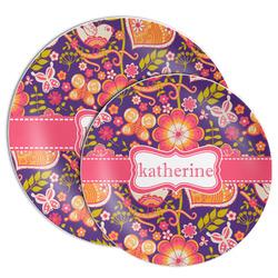 Birds & Hearts Melamine Plate (Personalized)