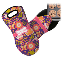 Birds & Hearts Neoprene Oven Mitt (Personalized)