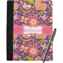 Birds & Hearts Notebook Padfolio (Personalized)