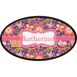 Birds & Hearts Oval Trailer Hitch Cover (Personalized)