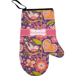 Birds & Hearts Oven Mitt (Personalized)