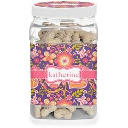 Birds & Hearts Pet Treat Jar (Personalized)