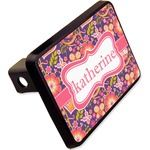 """Birds & Hearts Rectangular Trailer Hitch Cover - 2"""" (Personalized)"""