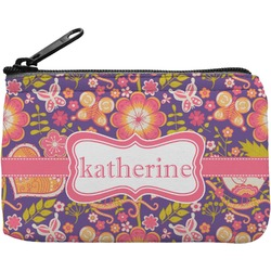 Birds & Hearts Rectangular Coin Purse (Personalized)