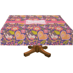 "Birds & Hearts Tablecloth - 58""x102"" (Personalized)"