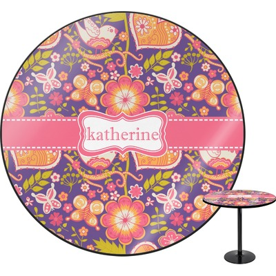 Birds & Hearts Round Table (Personalized)