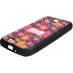 Birds & Hearts Rubber Samsung Galaxy 4 Phone Case (Personalized)