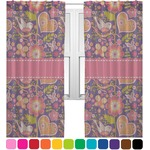 Birds & Hearts Sheer Curtains (Personalized)