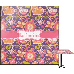 "Birds & Hearts Square Table Top - 30"" (Personalized)"