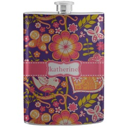 Birds & Hearts Stainless Steel Flask (Personalized)