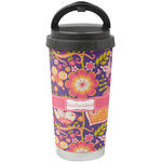 Birds & Hearts Stainless Steel Travel Mug (Personalized)