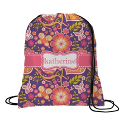 Birds & Hearts Drawstring Backpack (Personalized)