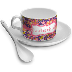 Birds & Hearts Tea Cup - Single (Personalized)