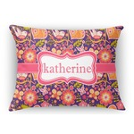 Birds & Hearts Rectangular Throw Pillow (Personalized)