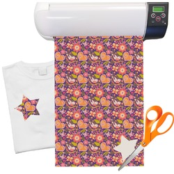 "Birds & Hearts Heat Transfer Vinyl Sheet (12""x18"")"