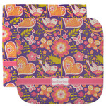 Birds & Hearts Facecloth / Wash Cloth (Personalized)