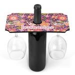 Birds & Hearts Wine Bottle & Glass Holder (Personalized)