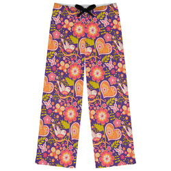 Birds & Hearts Womens Pajama Pants (Personalized)