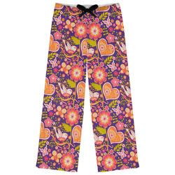 Birds & Hearts Womens Pajama Pants (Personalized)