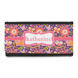 Birds & Hearts Leatherette Ladies Wallet (Personalized)
