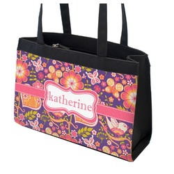 Birds & Hearts Zippered Everyday Tote (Personalized)