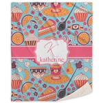 Dessert & Coffee Sherpa Throw Blanket (Personalized)