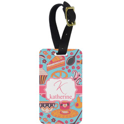 Dessert & Coffee Aluminum Luggage Tag (Personalized)