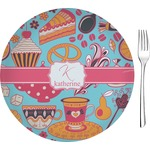 "Dessert & Coffee Glass Appetizer / Dessert Plates 8"" - Single or Set (Personalized)"