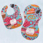 Dessert & Coffee Baby Bib & Burp Set w/ Name and Initial
