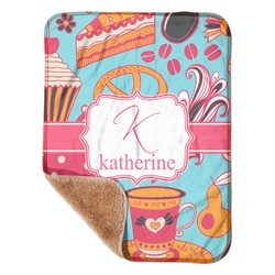 "Dessert & Coffee Sherpa Baby Blanket 30"" x 40"" (Personalized)"
