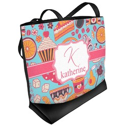 Dessert & Coffee Beach Tote Bag (Personalized)