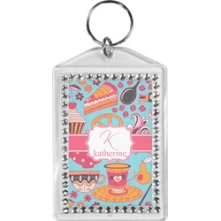 Dessert & Coffee Bling Keychain (Personalized)